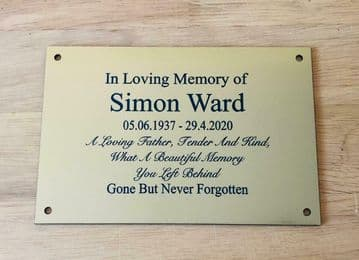 Personalised Engraved Memorial or Celebration Plaque Various Sizes